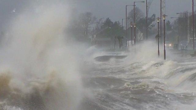 Stormy coastline