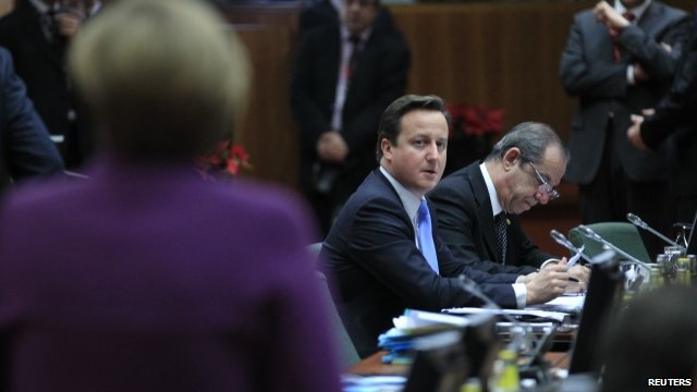 David Cameron at EU talks