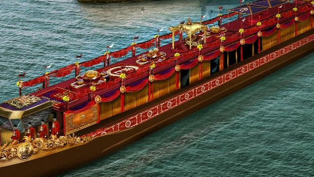 Image of how the royal barge will look