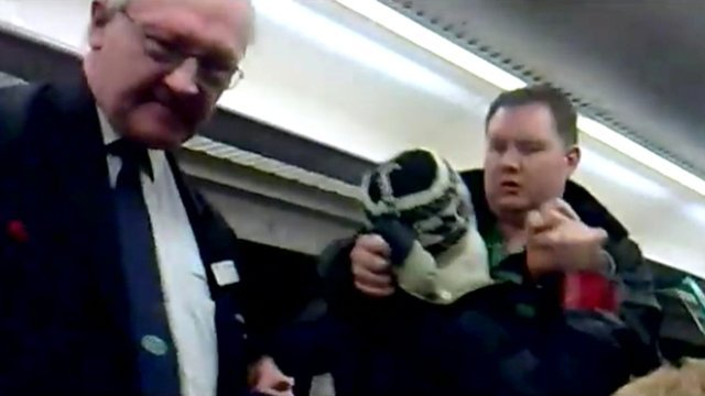 A train conductor, passenger and an alleged fare-dodger