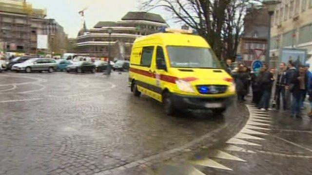 Scene of the attack in Liege