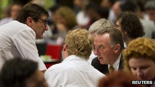 Peter Kent with Australia Minister for Climate Change Greg Combet during the Durban talks 11 December 2011
