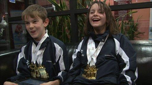 Gavin Drysdale (left) and Kayleigh Haggo