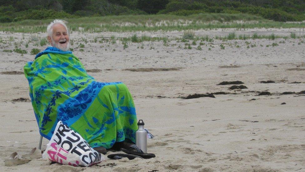 Grampa on the beach