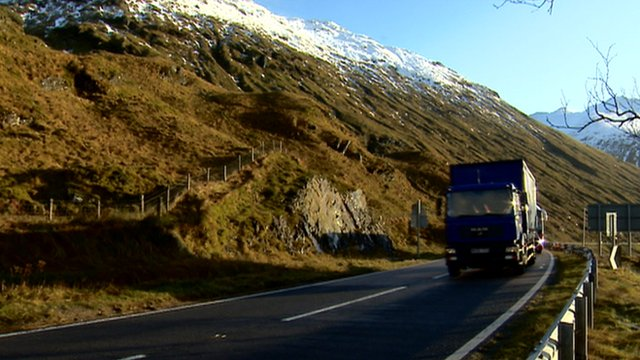Traffic on the A83