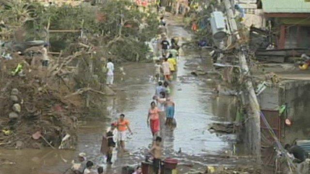 Philippines flood survivors