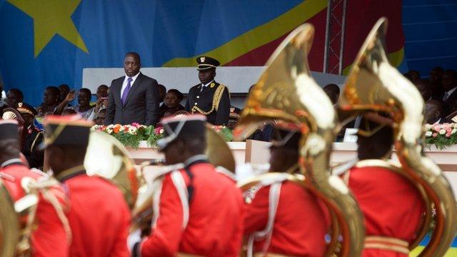 Democratic Republic of the Congo's troops parade