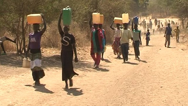 Refugees flee into South Sudan