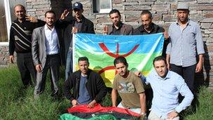 Amazigh former fighters from the Jadu Brigade