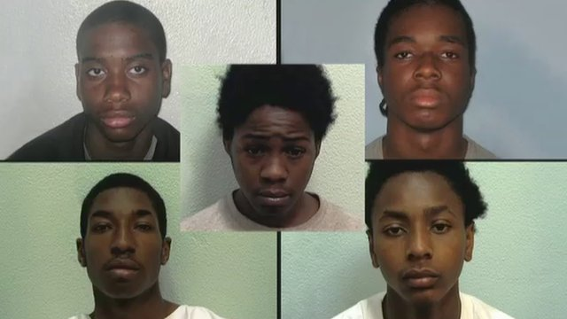 Four have been jailed for life another was given 12 years for manslaughter