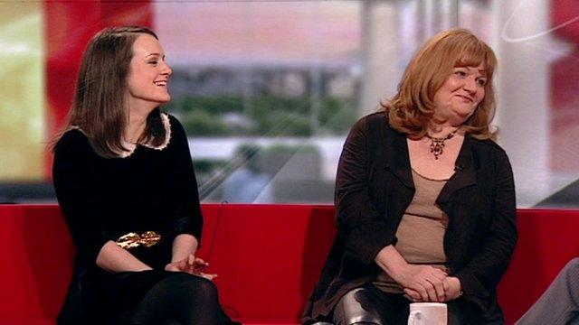 Sophie McShera and Lesley Nichol