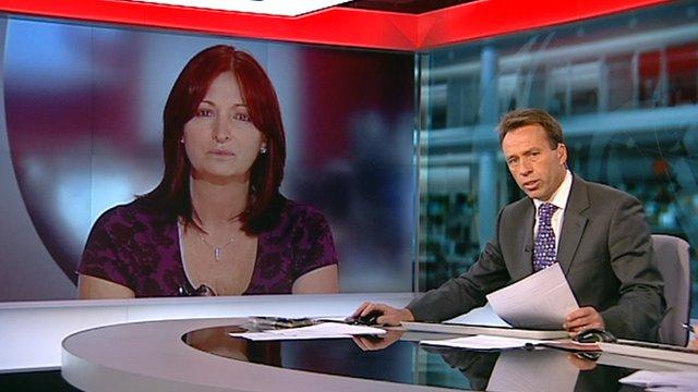 Elizabeth Hitchcock speaking to Ben Brown