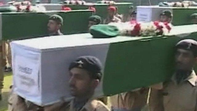 Pakistan buries 24 troops killed in Nato airstrike