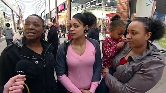 Christmas shoppers in Wakefield