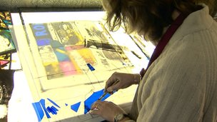 Stained glass artist Alec Galloway