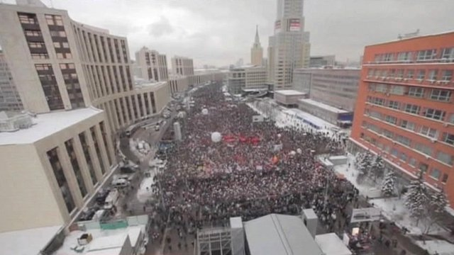 Crowds in Moscow