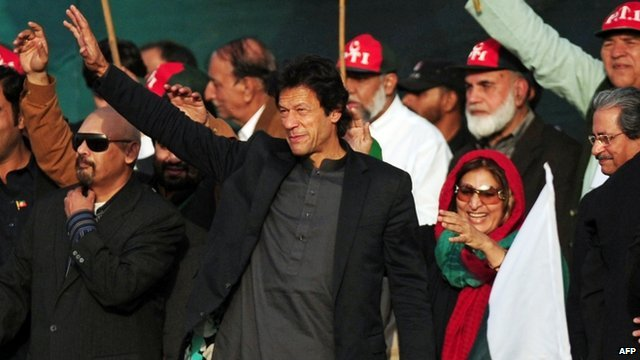Pakistani cricketer turned politician Imran Khan