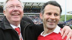 Syr Alex Ferguson a Ryan Giggs