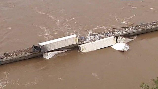 Train derailed in Australia