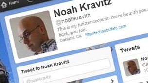 A screenshot of Noah Kravitz's Twitter profile