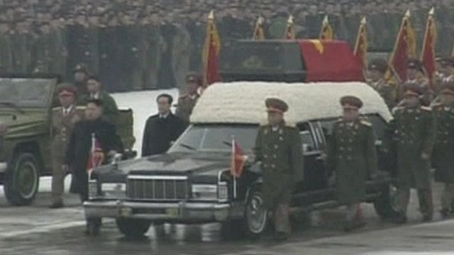 Hearse carrying Kim Jong-il