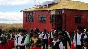 Children at their school in Torani