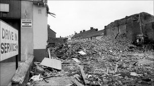 File photo of the aftermath of Toxteth Riots in Liverpool in July 1981