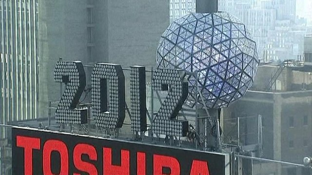 New York's New Year crystal ball rises