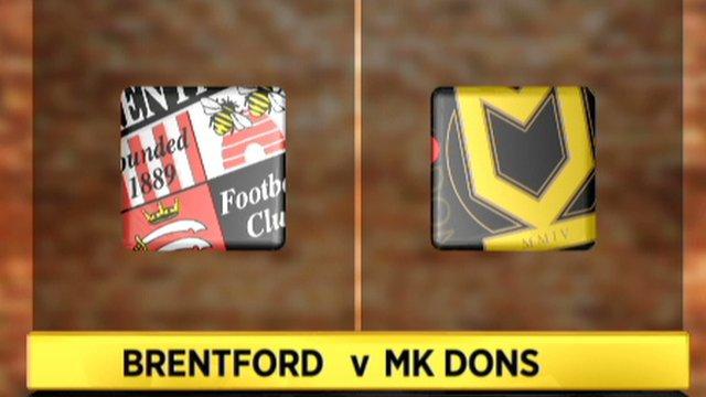 Brentford 3-3 MK Dons