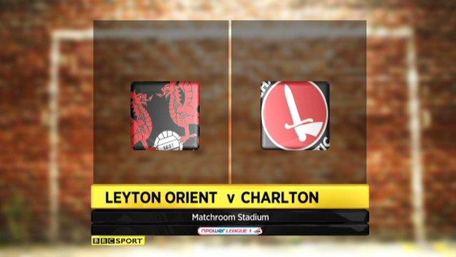 Leyton Orient 1-0 Charlton