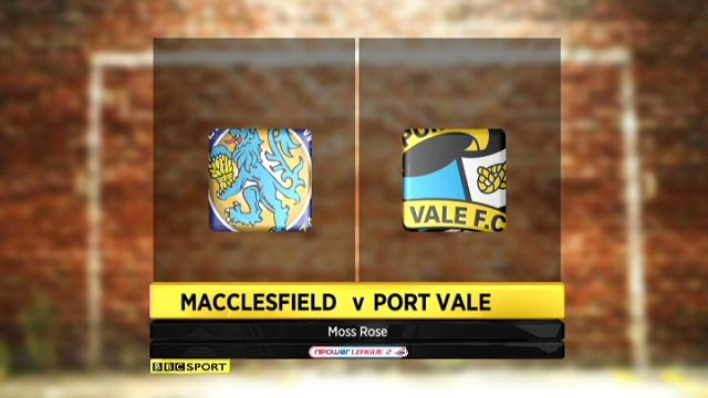 Macclesfield 2-1 Port Vale