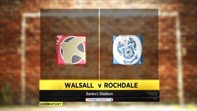 Walsall 0 - 0 Rochdale