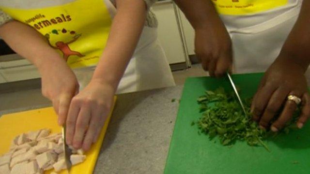 Healthy food plan for families bbc news people preparing food forumfinder Gallery