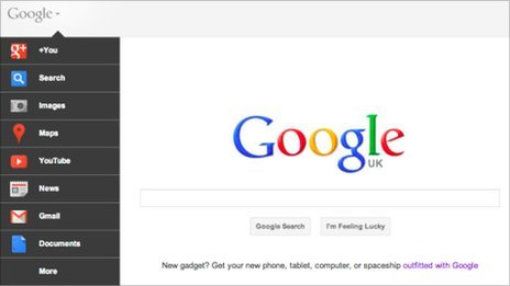 Google search home page revamp promotes other services - BBC News