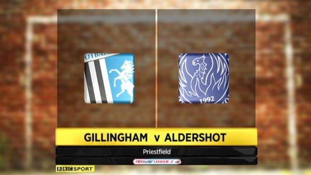Gillingham 1-0 Aldershot