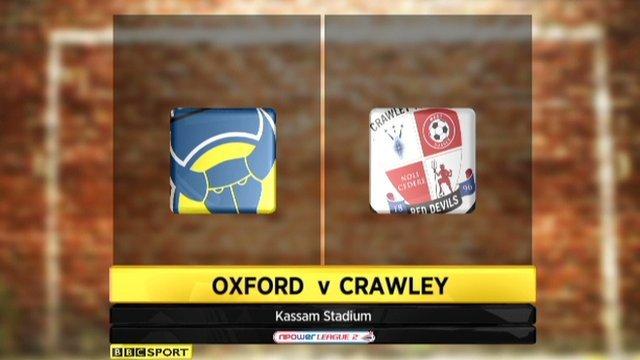 Oxford United 1-1 Crawley