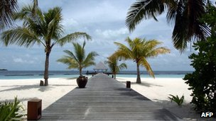Boduhithi Island in the Maldives