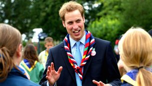 The Duke of Cambridge at the opening ceremony for the 21st World Scout Jamboree at Hylands Park, Chelmsford, Essex, in 2007