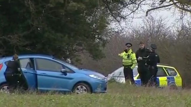 Police on the Sandringham Estate