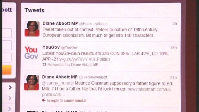 Diane Abbott twitter page
