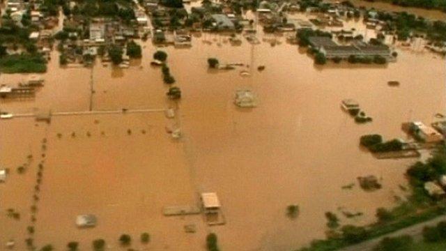 Brazil flooding - aerial views