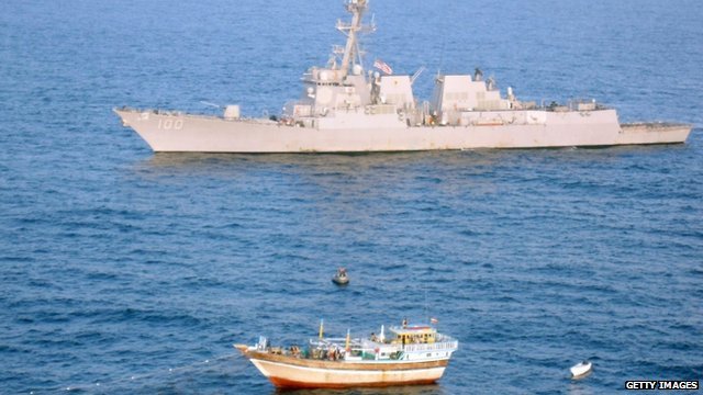 USS Kidd and Iranian vessel Al Molai