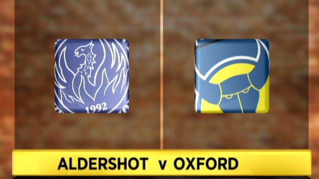 Highlights: Aldershot 0 - 3 Oxford Utd