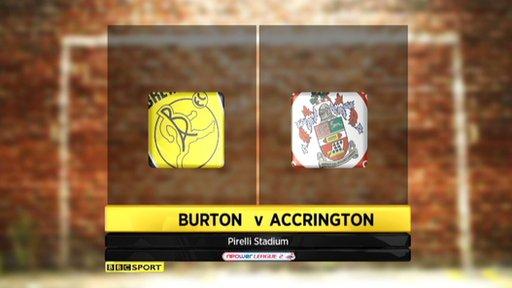 Burton 0-2 Accrington