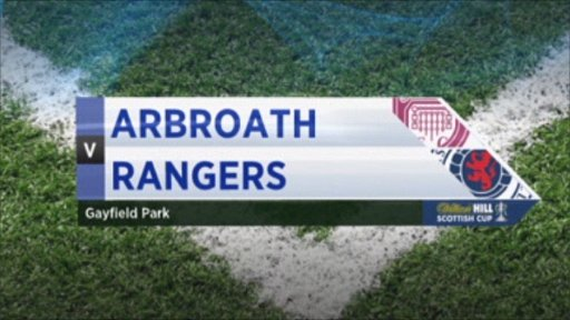 Arbroath v Rangers