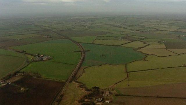 Fields between Aylesbury and Birmingham