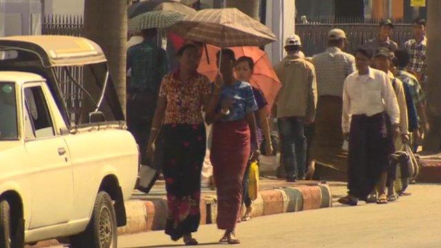 People in Rangoon