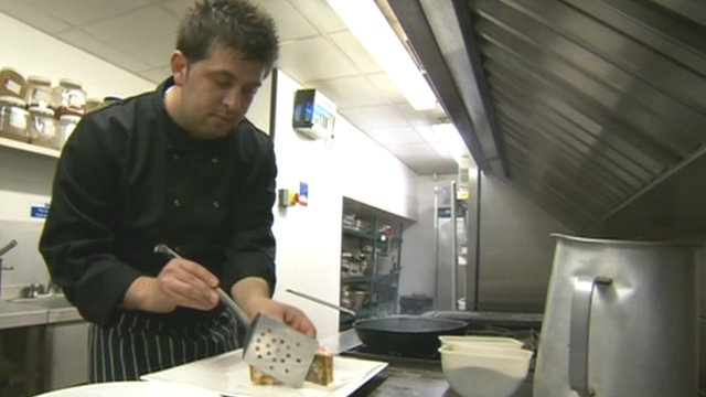 A chef working in the UK from Albania