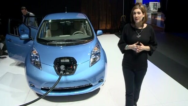 BBC's Caroline Hepker at Detroit motor show