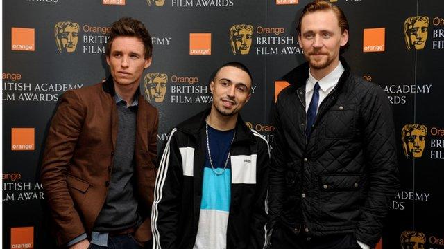Eddie Redmayne, Adam Deacon and Tom Hiddleston